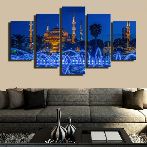 Sultan Ahmed Mosque Turkish Religious Painting Print