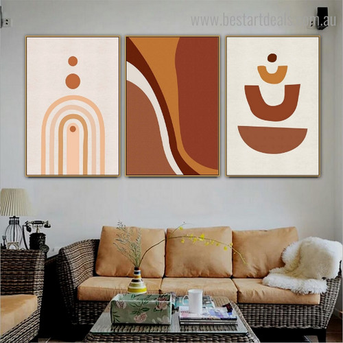 Tortuous Abstract Contemporary Framed Portraiture Image Canvas Print for Room Wall Drape