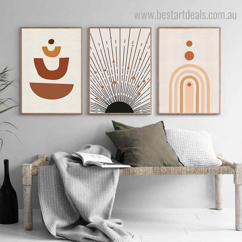 Circumlocutory Abstract Contemporary Framed Portraiture Pic Canvas Print for Room Wall Outfit