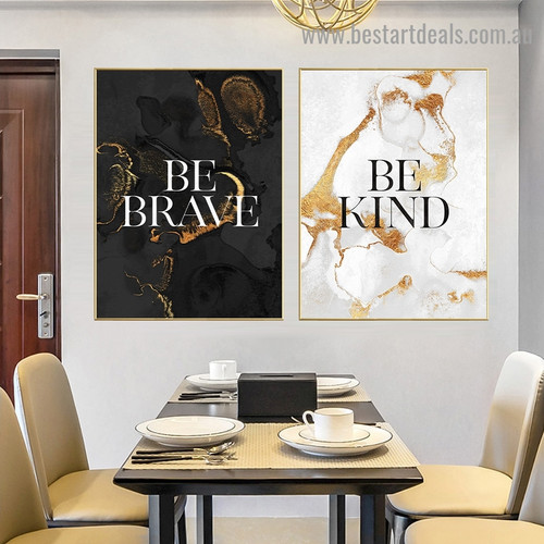 Kind Abstract Typography Modern Framed Painting Picture Canvas Print For Room Wall Ornamentation