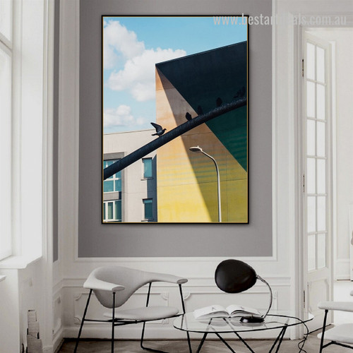 Tint Parapet Abstract Architecture Modern Framed Artwork Canvas Prints for Room Wall Ornament