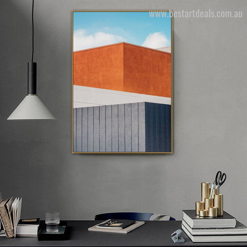 Bicolor Brink Abstract Cityscape Framed Painting Image Canvas Print for Room Wall Onlay