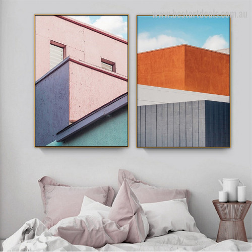 Variegated Brink Abstract Cityscape Framed Painting Pic Canvas Print for Room Wall Furninshing