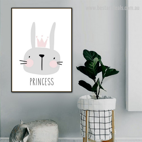 Mule Crown Princess Abstract Animal Modern Framed Painting Pic Canvas Print for Room Wall Décor