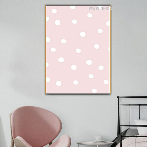 Polka Dots Abstract Kids Modern Framed Painting Image Canvas Print for Room Wall Decoration