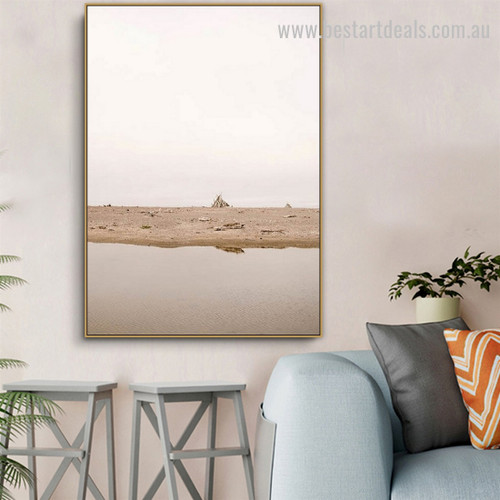 Mudflat Landscape Nature Framed Pic Canvas Print for Room Wall Onlay
