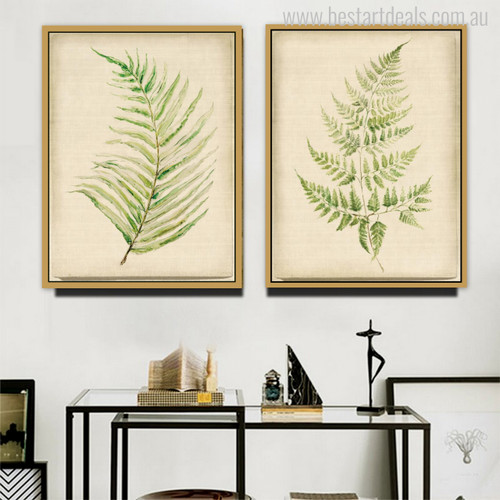 Leaves Modern Watercolor Wall Art Print for Living Room Decor