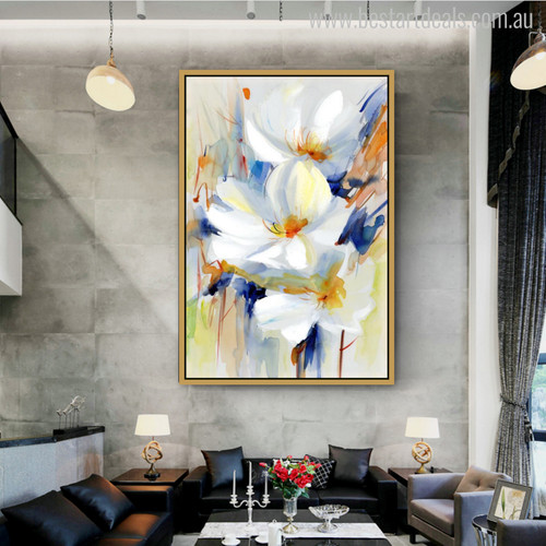 Lily Modern Gaudy Watercolor Painting Print for Room Ornament