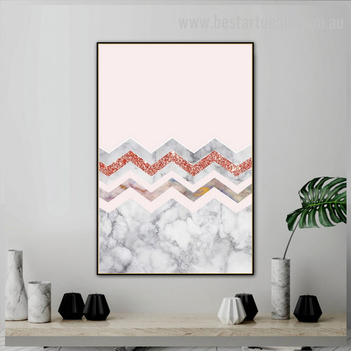 Glittering Waves Abstract Nordic Framed Painting Photo Canvas Print for Room Wall Garniture