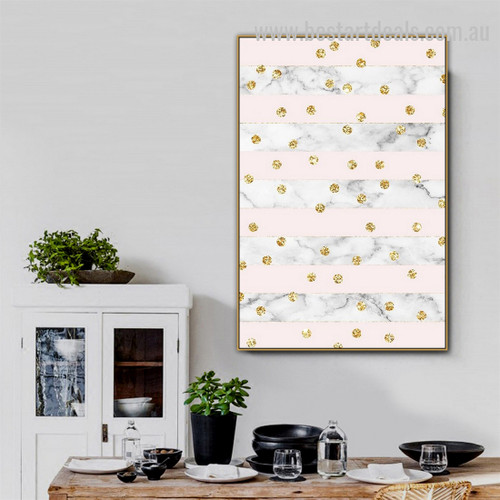 Auriferous Speckles Abstract Nordic Framed Painting Pic Canvas Print for Room Wall Moulding