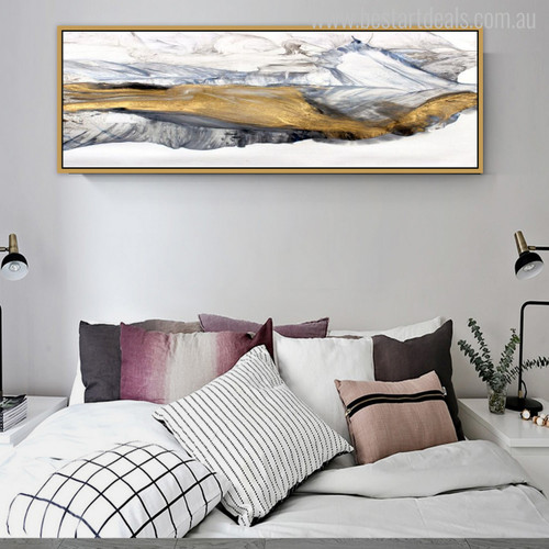 Mountain Abstract Stylish Watercolor Painting Print