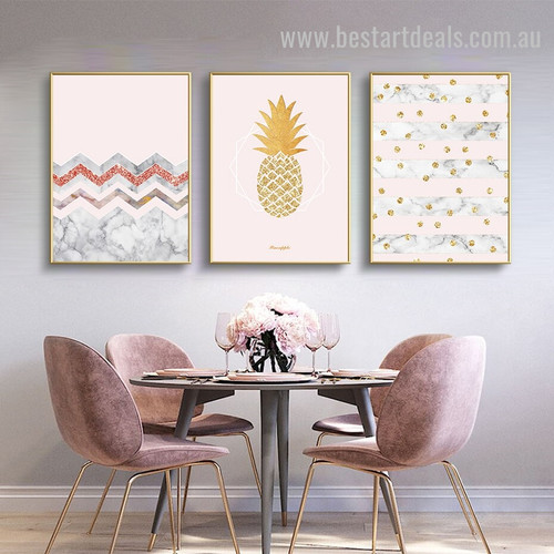 Lambent Wall Fruit Abstract Nordic Framed Artwork Picture Canvas Print for Room Wall Garnish