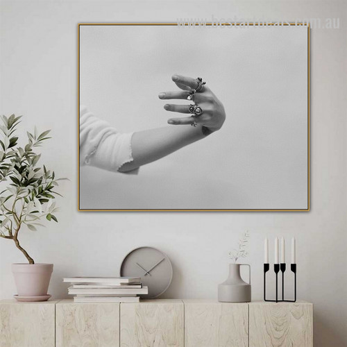 Vintage Rings Abstract Figure Vintage Framed Painting Photo Canvas Print for Room Wall Decor