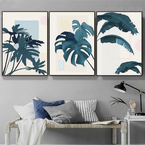 Dark Flora Botanical Scandinavian Framed Artwork Photo Canvas Print for Room Wall Ornament