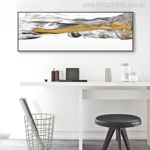 Real Mountains Abstract Modern Watercolor Painting Canvas Print for Room Wall Decor