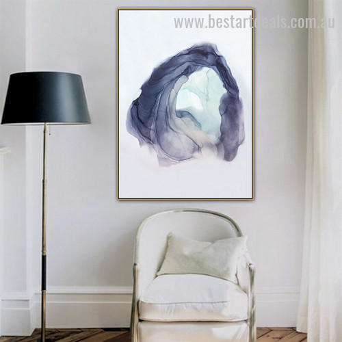 Watercolor Globe Abstract Landscape Nordic Framed Artwork Pic Canvas Print for Room Wall Decor