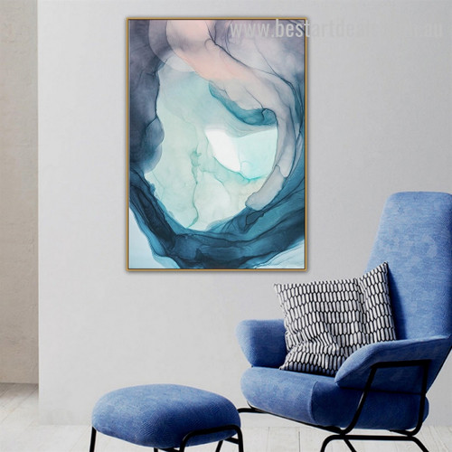 Loop Hole Abstract Watercolor Nordic Framed Artwork Image Canvas Print for Room Wall Garniture