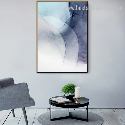 Mountain Road Abstract Watercolor Nordic Framed Artwork Portrait Canvas Print for Room Wall Decoration