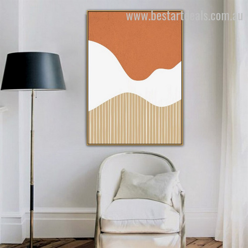 Tri Shade Abstract Modern Framed Painting Pic Canvas Print for Room Wall Garnish