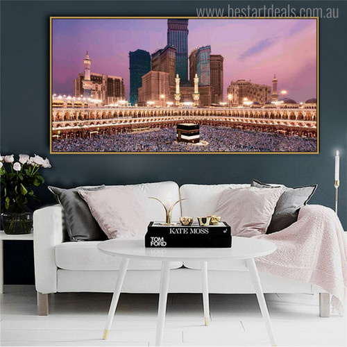 Great Mosque Religious Modern Painting Canvas Print for Room Ornament