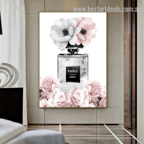 Paris Perfume Abstract Botanical Nordic Framed Artwork Photo Canvas Print for Room Wall Garnish