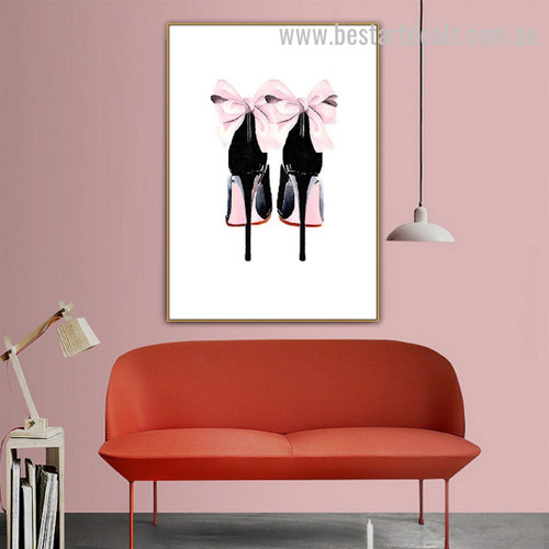 High Heels Modern Nordic Framed Painting Photo Canvas Print for Room Wall Moulding