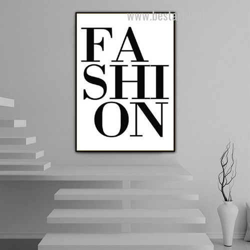 Vogue Fashion Abstract Typography Modern Framed Painting Picture Canvas Print for Room Wall Molding
