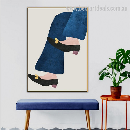 Black Suede Abstract Figure Minimalist Nordic Framed Painting Photo Canvas Print for Room Wall Adornment