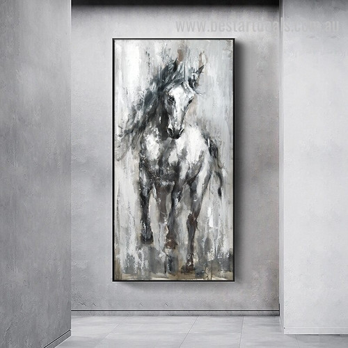 Acrylic Horse Abstract Vintage Watercolor Nordic Painting Picture Canvas Print for Room Wall Décor