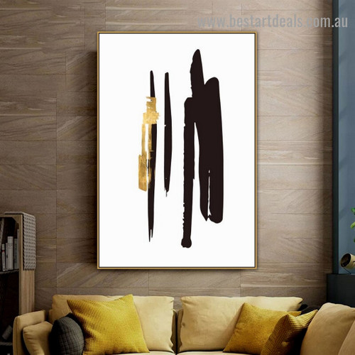 Noir Knife Pattern Modern Abstract Artwork Photo Canvas Print for Room Wall Décor