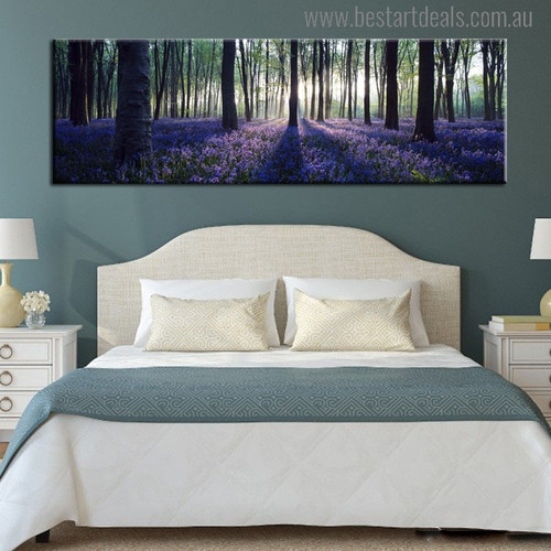Forest Steppe Modern Landscape Painting Canvas Print