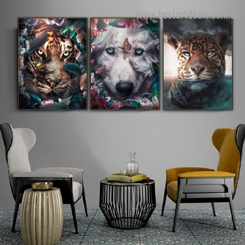 Cloudy Leopard Animal Nordic Abstract Picture Canvas Print for Room Wall Decoration