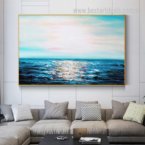First Light Abstract Landscape Nature Modern Painting Pic Canvas Print for Room Wall Ornament