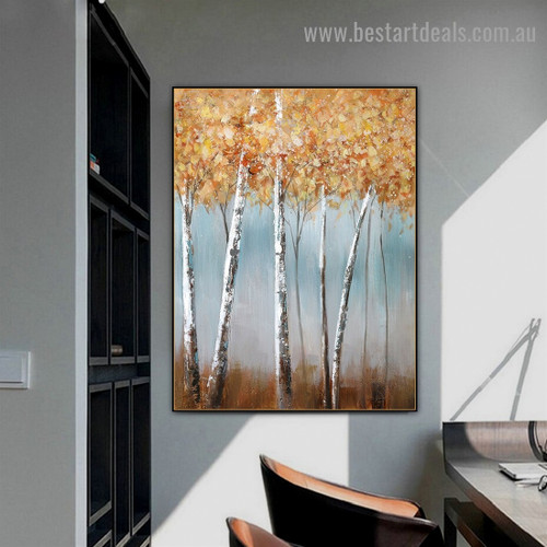 Silver Arbor Botanical Modern Abstract Artwork Photo Canvas Print for Room Wall Decor