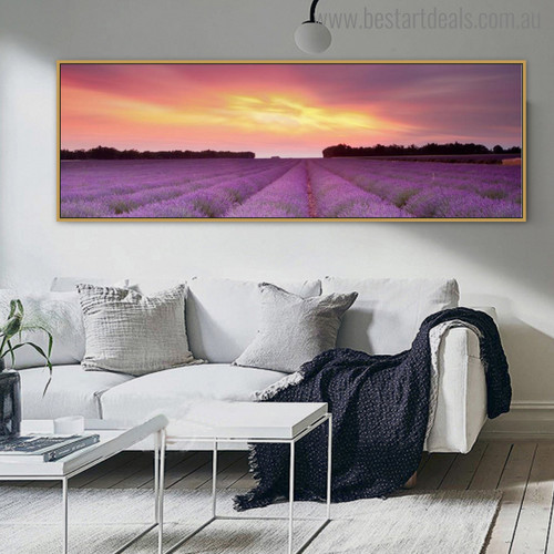 Woodland Landscape Modern Painting Canvas Print for Room Decor