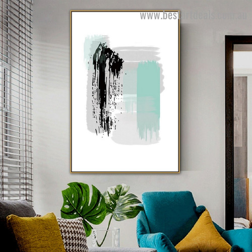 Black Tortoise Painting Abstract Modern Artwork Picture Canvas Print for Room Wall Decoration