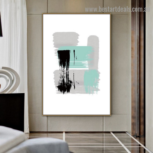 Multicolor Oil Painting Abstract Modern Artwork Photo Canvas Print for Room Wall Ornament