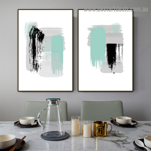 Brush Design Abstract Modern Artwork Photo Canvas Print for Room Wall Decoration