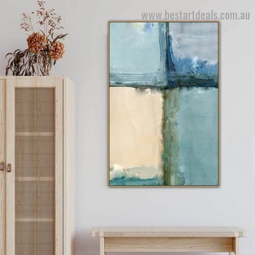 Multicolor Wall Bricks Abstract Modern Artwork Photo Canvas Print for Room Wall Decoration