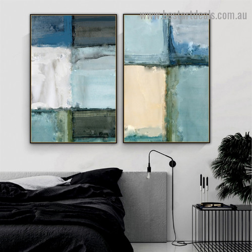 Oil Block Painting Abstract Modern Artwork Portrait Canvas Print for Room Wall Adornment