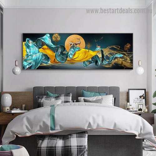 Chinese Style Painting Abstract Modern Artwork Portrait Canvas Print for Room Wall Decoration
