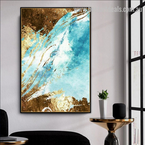 Auric Stratum Abstract Modern Effigy Image Canvas Print for Room Wall Ornamentation