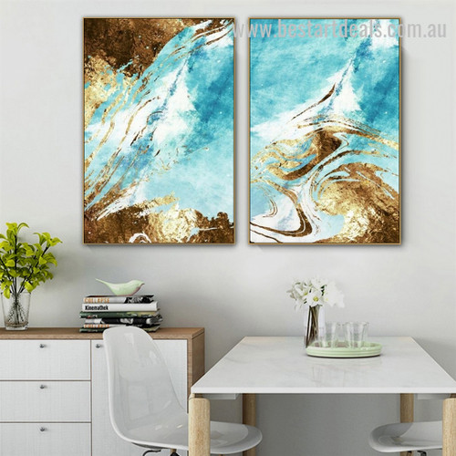 Water Loricate Ripple Abstract Modern Artwork Image Canvas Print for Room Wall Ornament