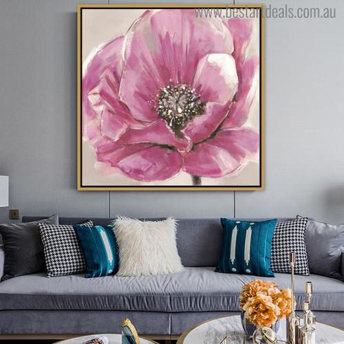 Zinnia Elegans Abstract Watercolor Botanical Painting Print