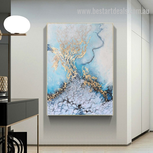 Sea Serous Abstract Landscape Nordic Effigy Pic Canvas Print for Room Wall Garniture