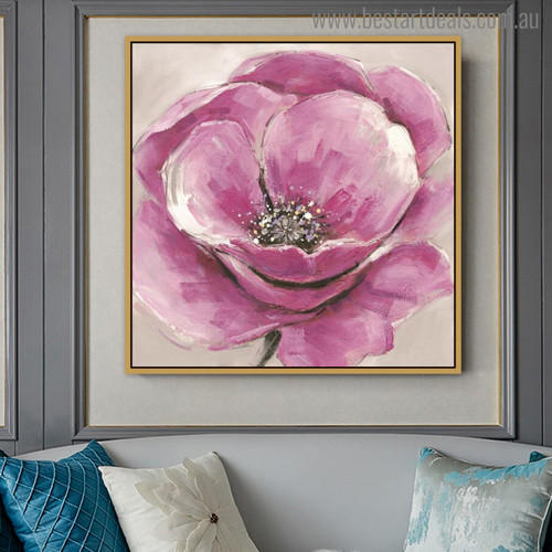 Persian Buttercup Abstract Modern Watercolor Painting Canvas Print
