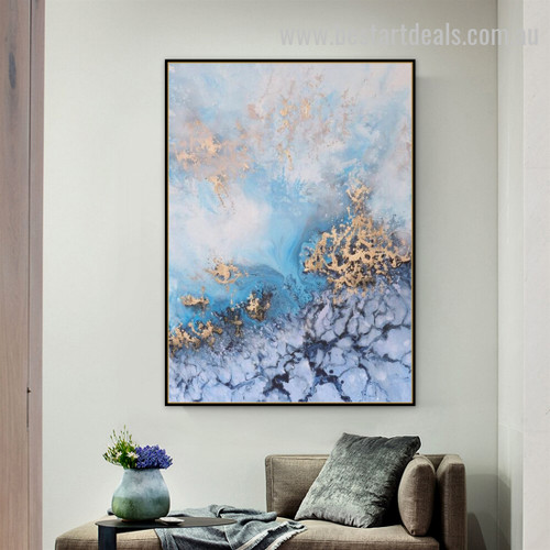 Waterspout Abstract Landscape Modern Painting Image Canvas Print for Room Wall Decor