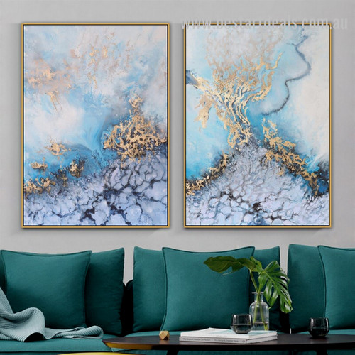 Ocean Street Abstract Landscape Nordic Painting Photo Canvas Print for Room Wall Garniture