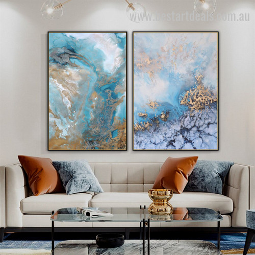 Spume Funnel Abstract Landscape Modern Effigy Photo Canvas Print for Room Wall Onlay