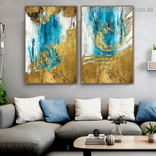 Floating Paint Abstract Modern Artwork Photo Canvas Print for Room Wall Ornament